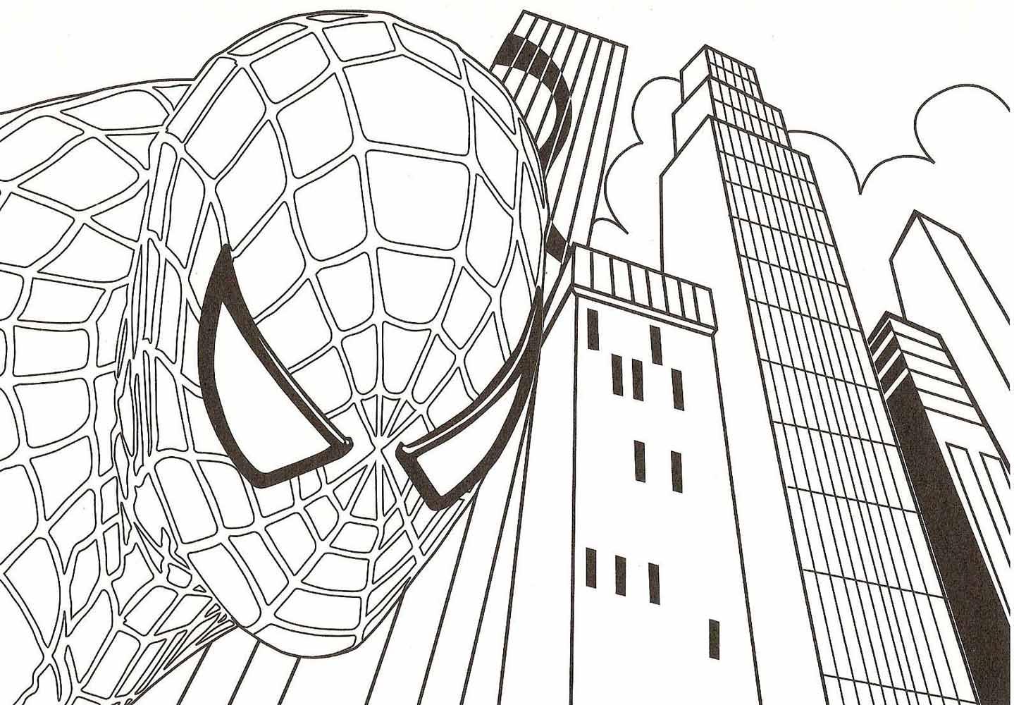 Раскраска паук детская