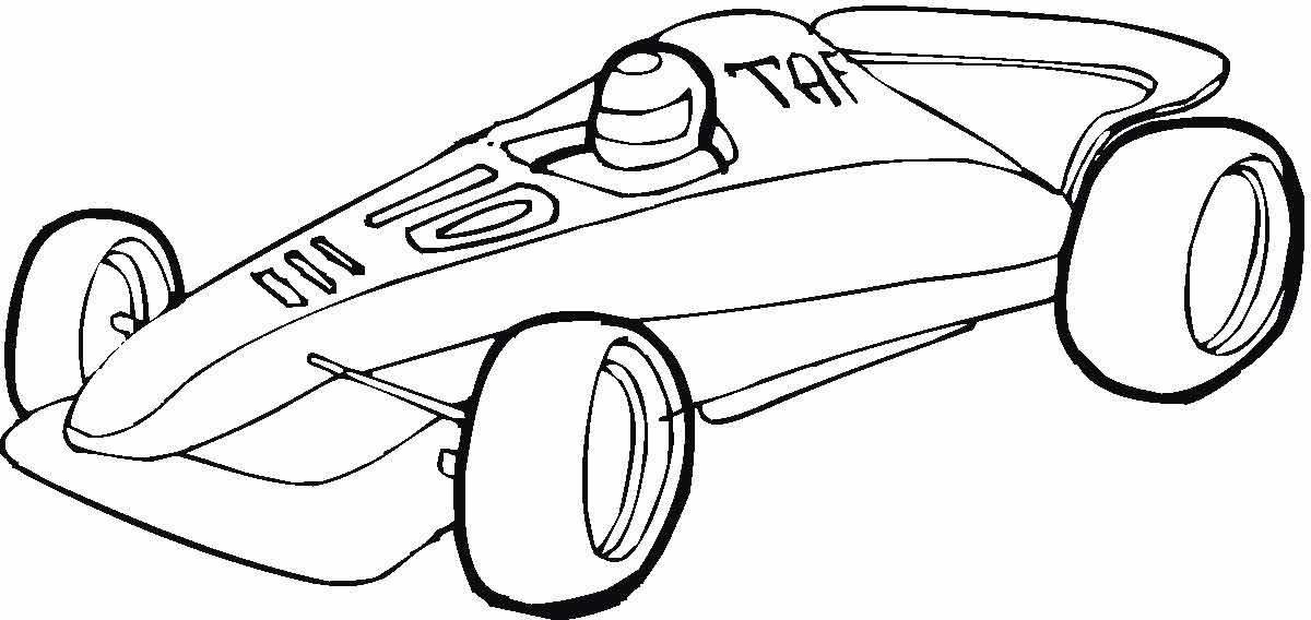 Раскраска про машины формулы 1 раскраска