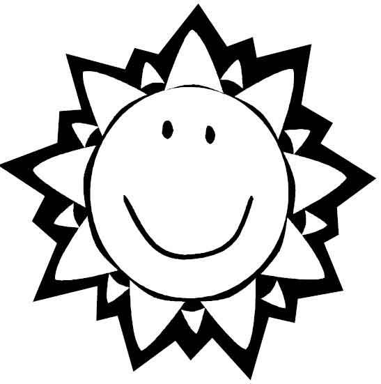 Раскраска детское солнышко