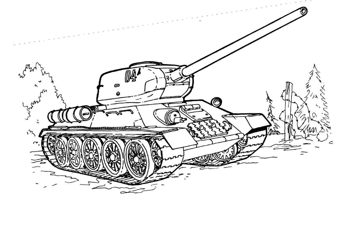 Раскраски танки онлайн распечатать