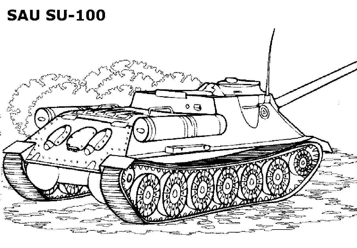 Раскраски для мальчиков танки | Детские раскраски ...