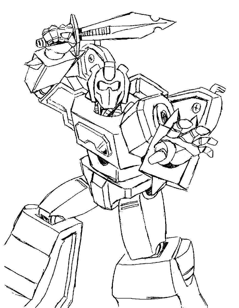 Transformers Drift Coloring Sheets