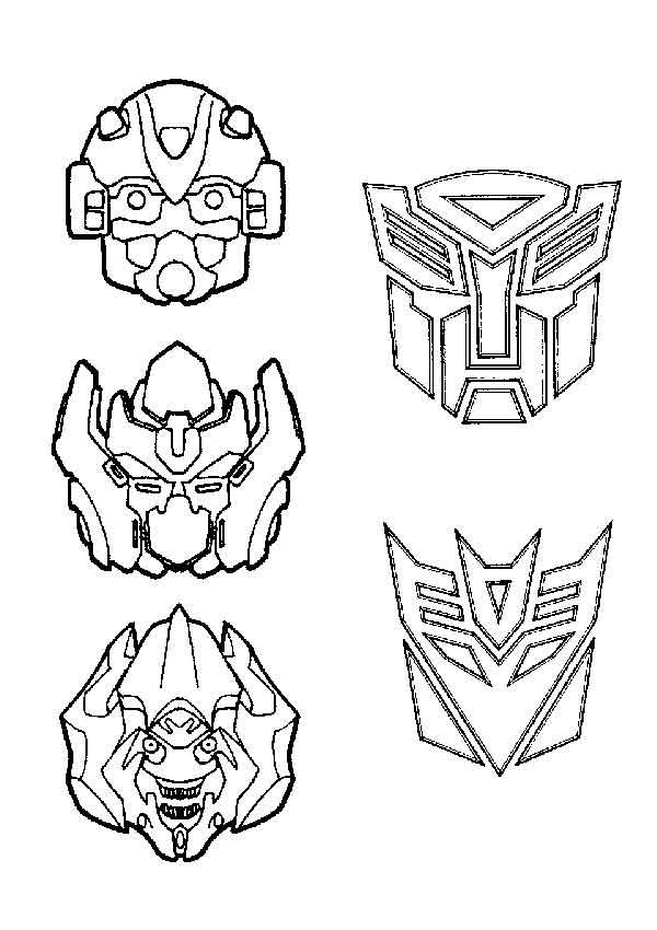 Раскраски для мальчиков Трансформеры | Детские раскраски ...