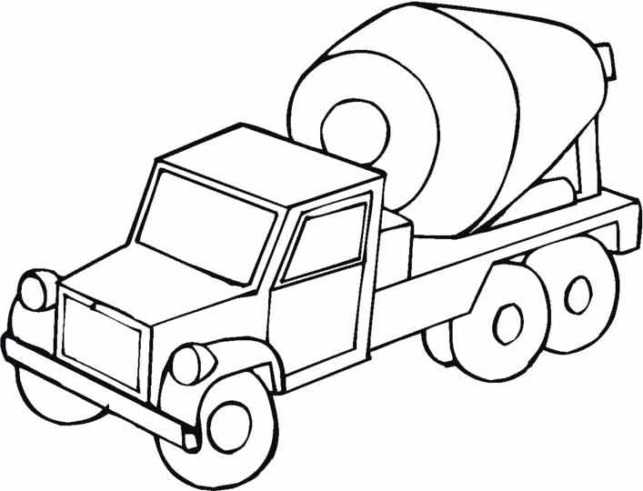 Машинки раскраска бетономешалка