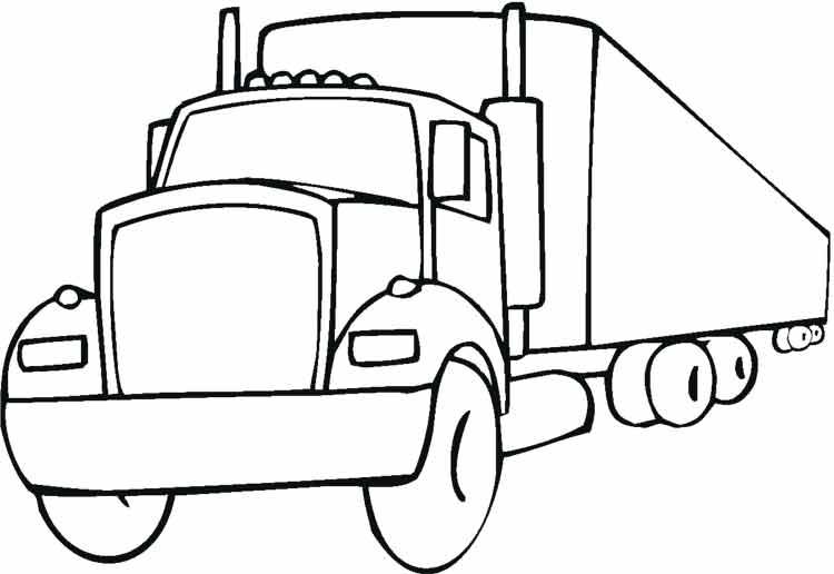 Раскраска грузовик - 4