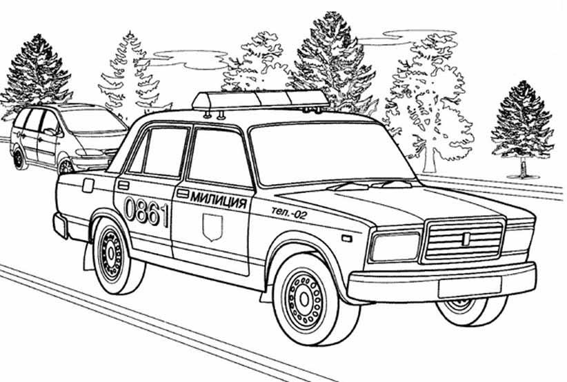 Раскраска машины ВАЗ | Детские раскраски, распечатать, скачать